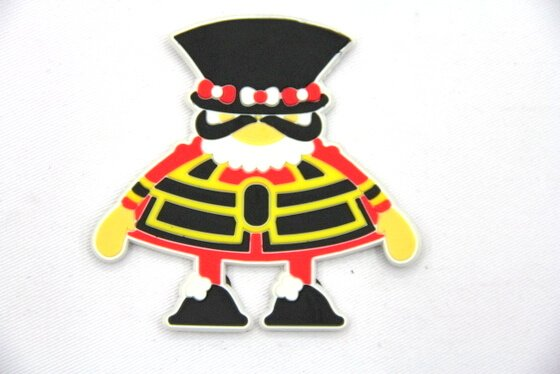 Silicone/Rubber fridge magnets, Cute cartoon, guard, #02032-003