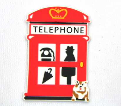Silicone/Rubber fridge magnets, Cute cartoon, old telephone, #02032-005