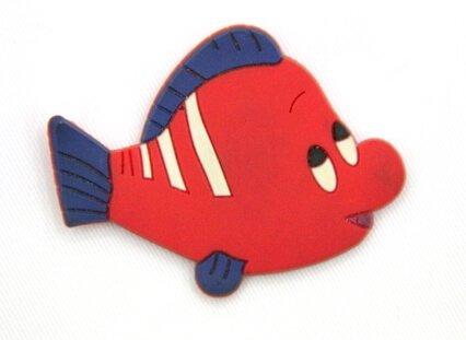 Silicone/Rubber fridge magnets Cute cartoon, sea animals, clown fish, #02033-002