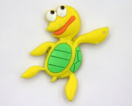 Silicone/Rubber fridge magnets Cute cartoon, sea animals, turtle, #02033-004