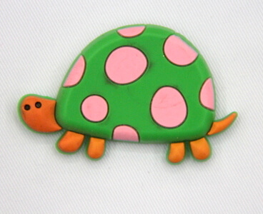 Silicone/Rubber fridge magnets Cute cartoon, sea animals, turtle, #02033-005