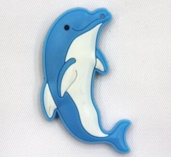 Silicone/Rubber fridge magnets Cute cartoon, sea animals, dolphin, #02033-009