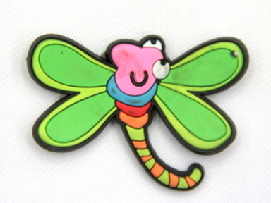 Silicone/Rubber fridge magnets, Cute cartoon animals, dragon fly, #02034-003