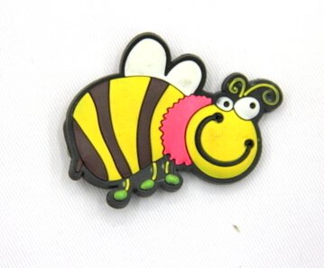 Silicone/Rubber fridge magnets, Cute cartoon animals, bee, #02034-005