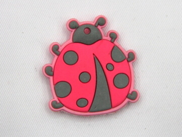 Silicone/Rubber fridge magnets, Cute cartoon animals, lady bird, #02034-008