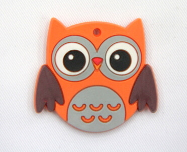 Silicone/Rubber fridge magnets, Cute cartoon animals, owl, #02034-009