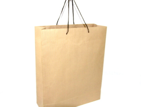 Two sides 180g Craft Paper Bag, thin lines for men, #03011