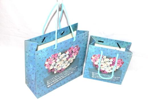 210g White cardboard Paper Bag,metallic, #03024