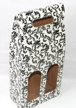 corrugated paper wine bag twin (2 bottles), #03035