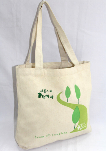 Reusable promotional cotton/canvas shopping totes with custom print/logo, #04-002