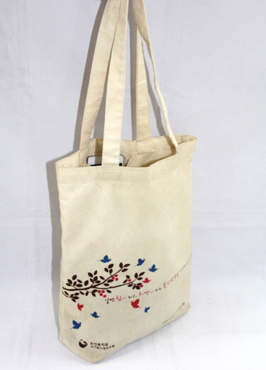 Reusable promotional cotton/canvas shopping totes with custom print/logo, , #04-014