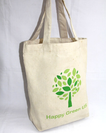 Reusable promotional cotton/canvas shopping totes with custom print/logo,cat, #04-020