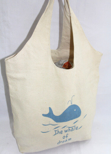 Reusable promotional cotton/canvas shopping totes with custom print/logo, souvenir, , #04-042