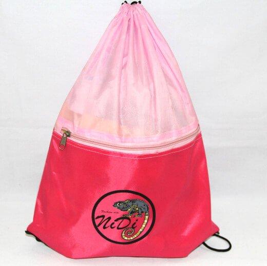 Promotional Polyester Fabrics Drawstring Bags/Backpack in China Yiwu, Nidi, #04-068