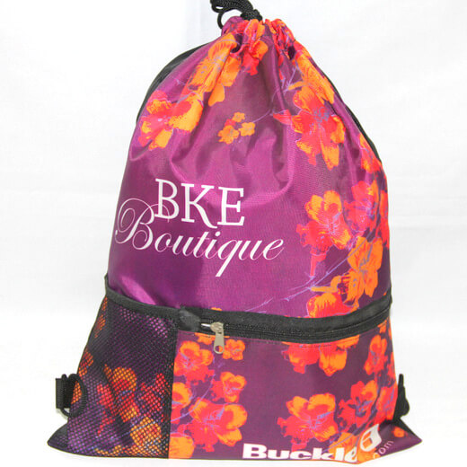 Promotional Polyester Fabrics Drawstring Bags/Backpack in China Yiwu ,boutique, #04-088