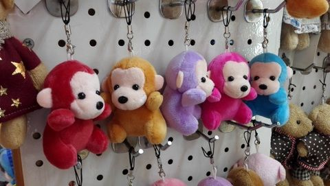 plush toys key chain  wholesale in Yiwu market China