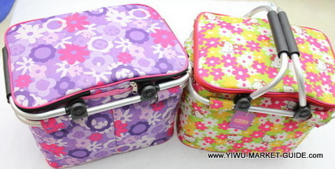 Cooler bag # 0801-035-2, with aluminum foldable handles