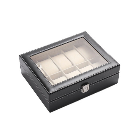 PU Leather Watch Display Box 10 slots (1)
