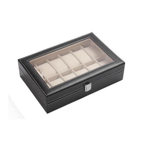 PU Leather Watch Display Box 12 slots (1)