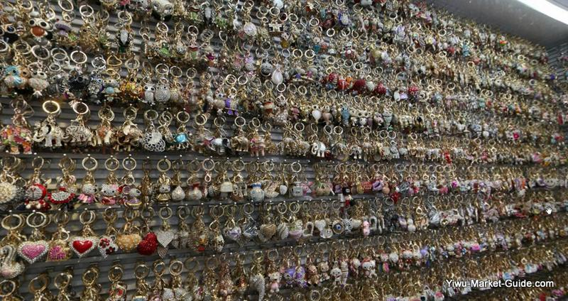 numerous stone-on-metal keyrings wholesale in yiwu market china