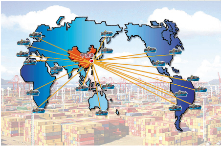Container shipped to destinations worldwide