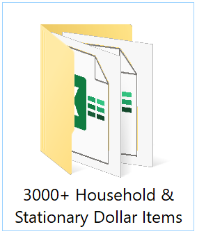 3,000+ dollar items price lists in Excel files