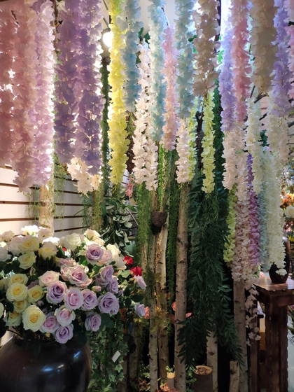 9113 SuRong Plastic Flowers Factory Wholesale Supplier Showroom 002