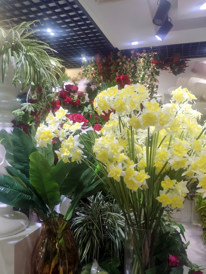 9167 TIANYUAN Artificial Floral Factory Wholesale Supplier Yiwu China. Showroom  005