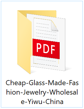 Catalog Pictures & Price List Sample for Cheap Glass-Made Fashion Jewelry Wholesale in Yiwu, China