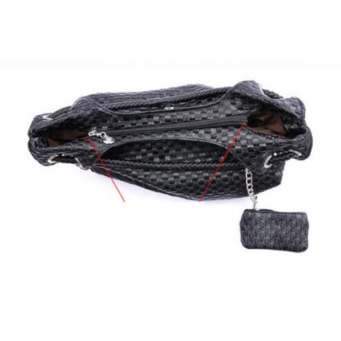 PU Knit Shoulder bag black