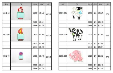 Silicone/Rubber Fridge Magnets Catalog & Price List