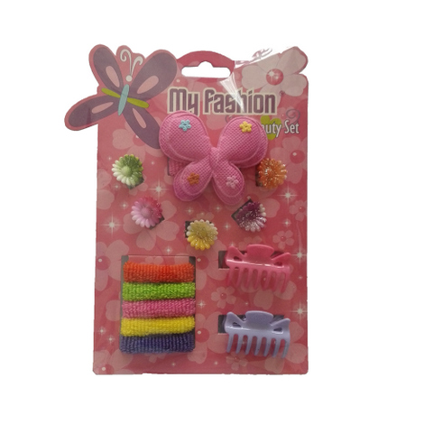 13 pcs girl hair accessories set: flower, band, comb
