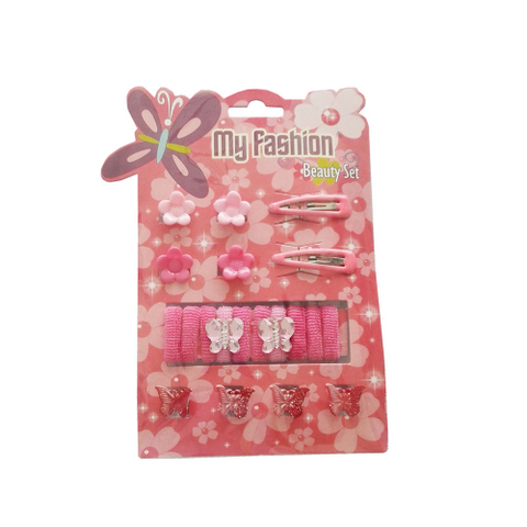 20 pcs girl hair accessories set: band, comb, flower, butterfly, cute