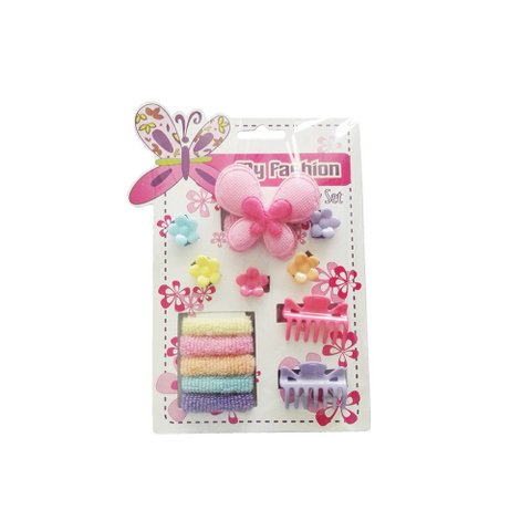 Hair Accessories Set With Display Box, Red