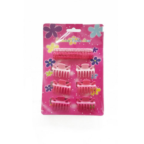 10 pcs hair accessories set for kids: claws, bands