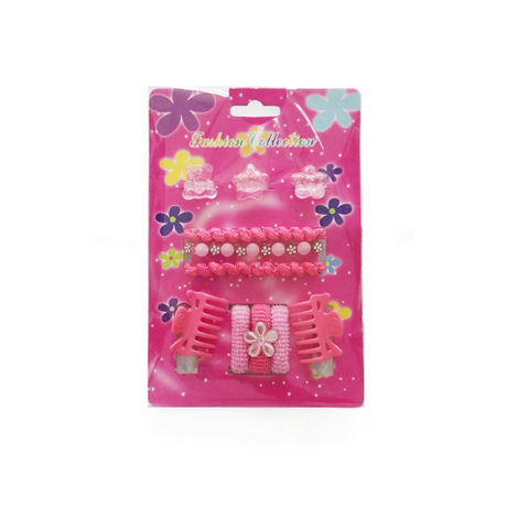 11 pcs hair accessories set for kids: claws, bands, clips