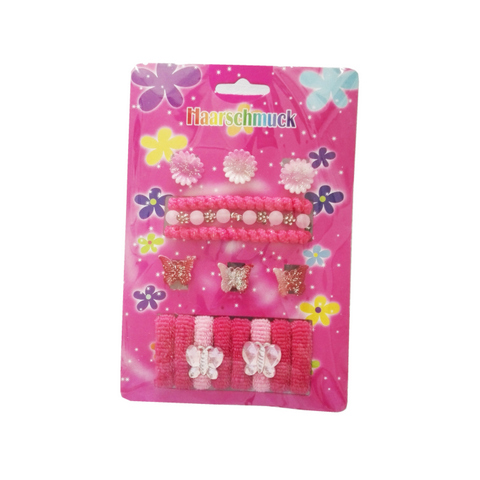 17 pcs hair accessories set for kids: claws, bands, clips