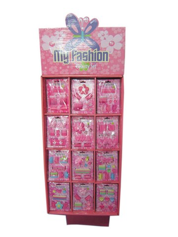 Girls Hair Accessories Set With Display Box Pink