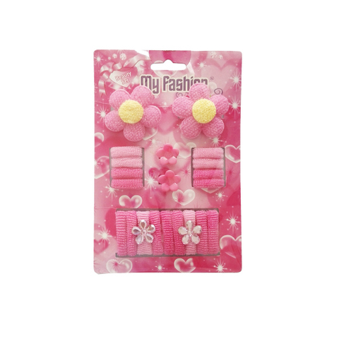 21pcs Set Girls Hair Accessories With Display Box, Pink