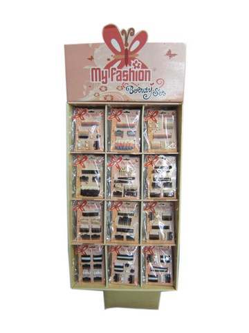 Hair Accessories Set With Display Box Brown