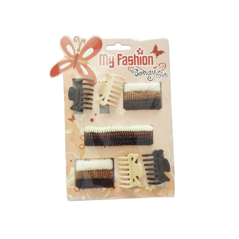 Hair Accessories Set With Display Box, Brown 1