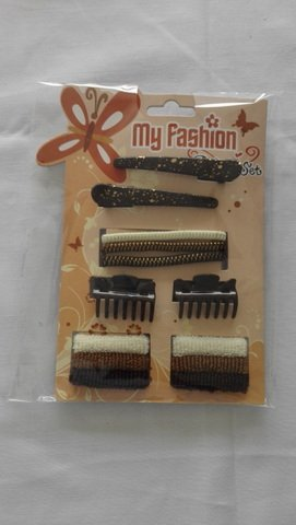 Hair Accessories Set With Display Box, Brown 4