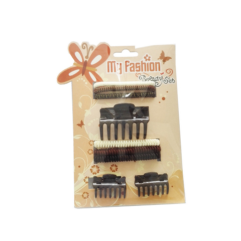 Hair Accessories Set With Display Box, Brown 5