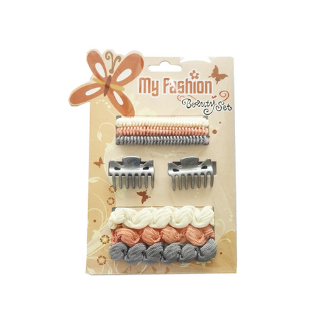 Hair Accessories Set With Display Box, Brown 8