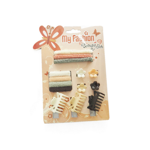 Hair Accessories Set With Display Box, Brown 9