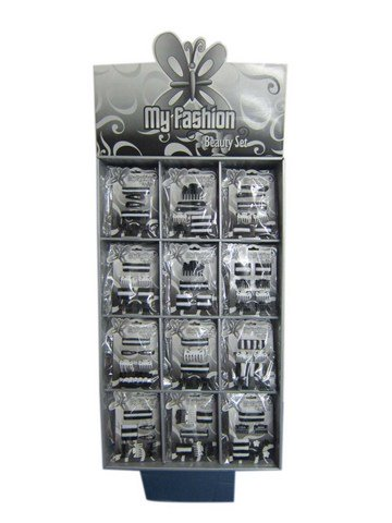 Hair Accessories Set With Display Box Black & White