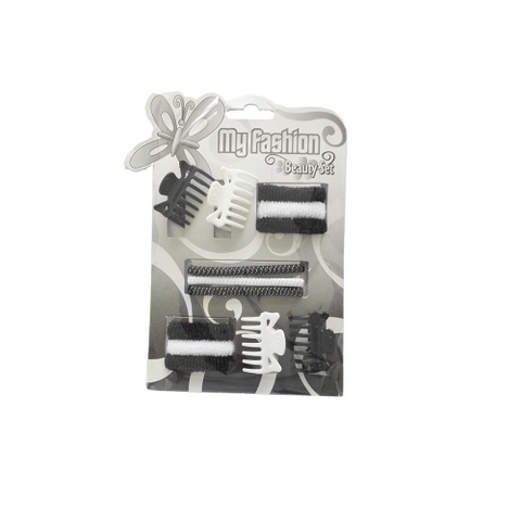 Hair Accessories Set With Display Box, Black & White 3