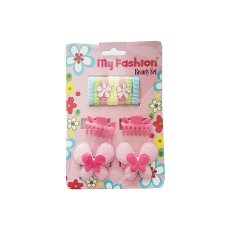 Hair Accessories Set With Display Box, Blue 02