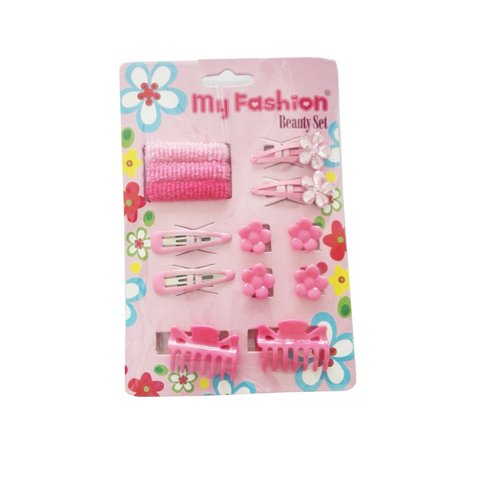 Hair Accessories Set With Display Box, Blue 04