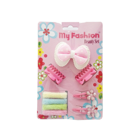Hair Accessories Set With Display Box, Blue 07
